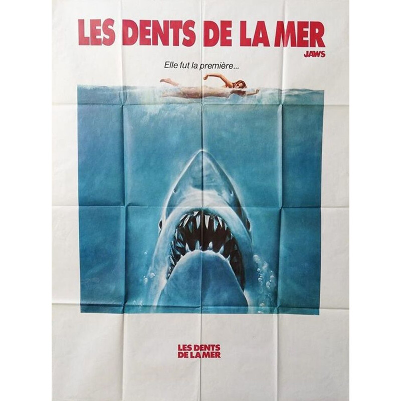Vintage original film poster jaws 1975