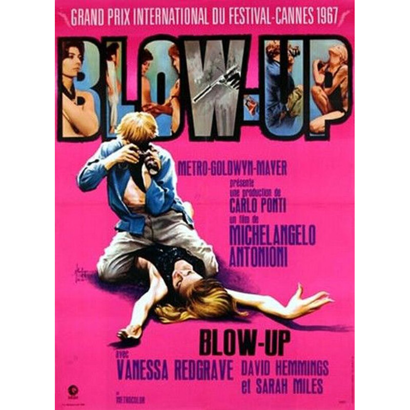 Vintage original poster blow up by Michelangelo Antonioni 1967