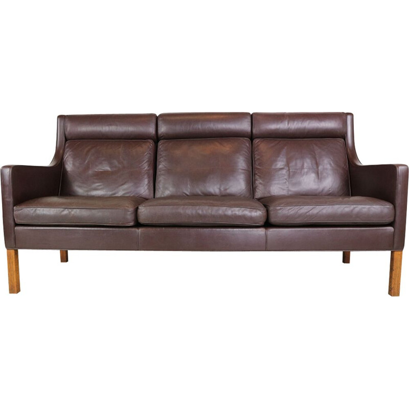 Vintage 3-seater sofa in leather 2433 by Børge Mogensen for Fredericia Furniture