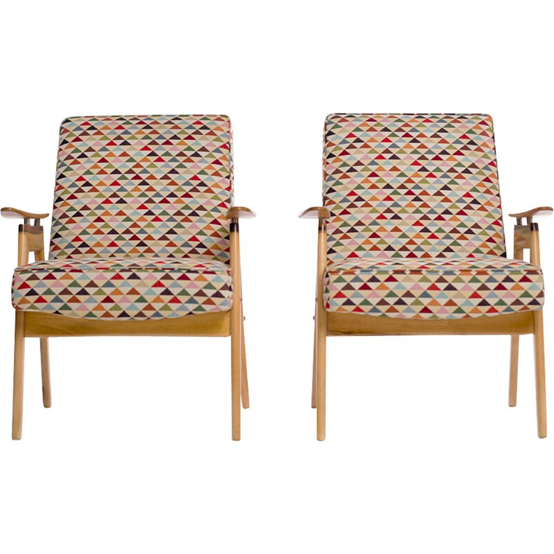 Set of 2 lounge chairs by Jaroslav Smidek for Jitona