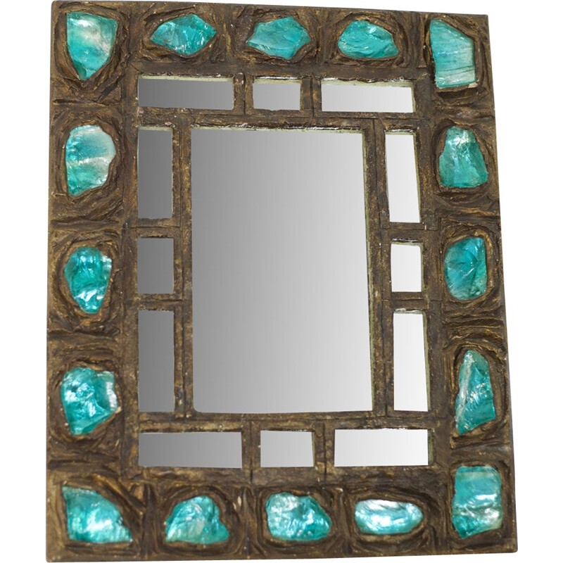 Vintage mirror in resin