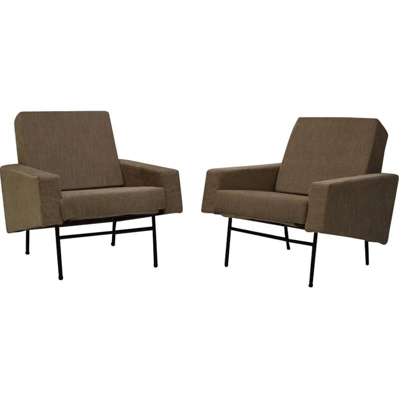 Set of 2 vintage armchairs by Pierre Guariche for Airborne