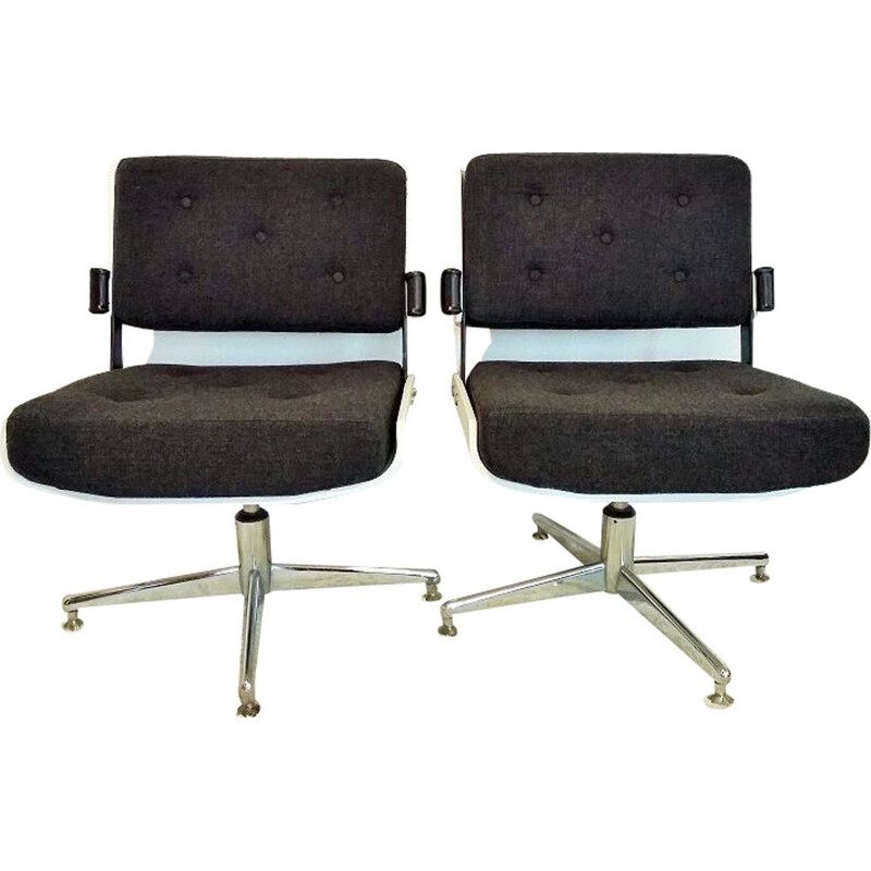 Set of 2 vintage low chair for Moderntube 1970