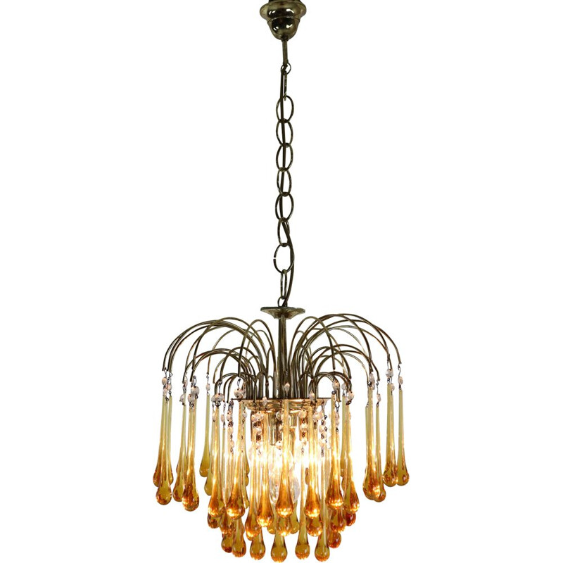 Vintage chandelier in Murano glass by Paolo Vanini