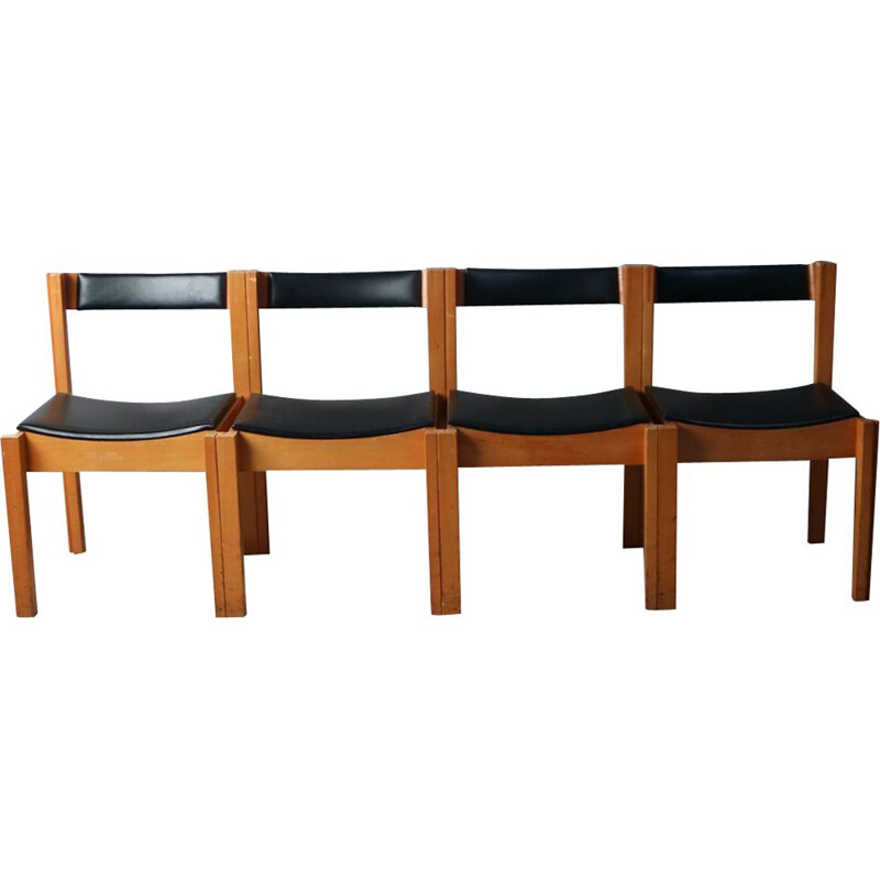 Set of 4 vintage chairs by Clive Bacon for V&A