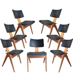 7 Hillestack chairs, Robin DAY - 1950s