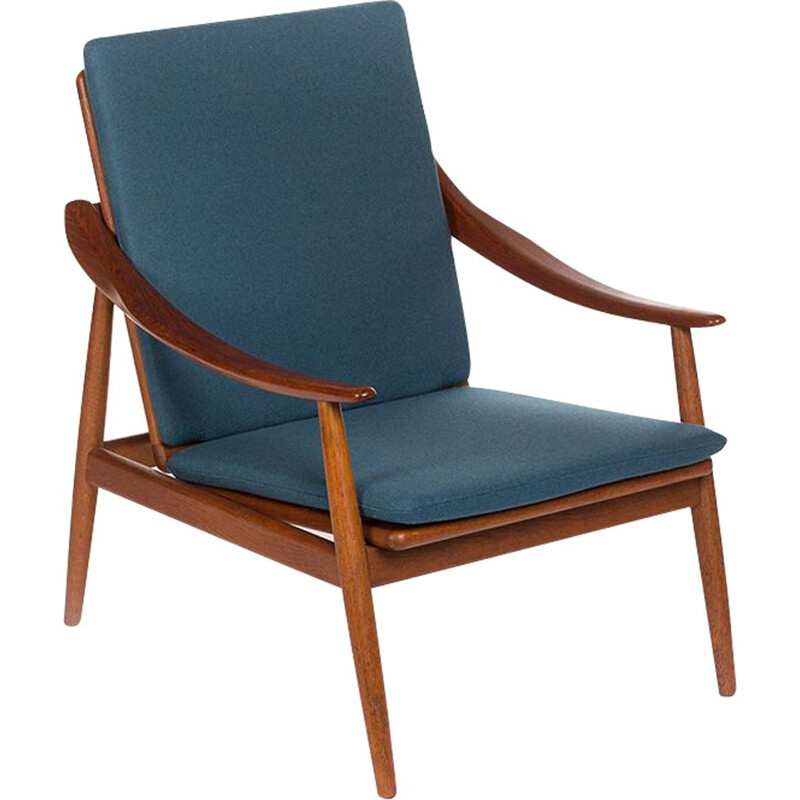 "Vintage Danish blue armchair ""301"" by Kurt Ostervig for Jason Mobler"