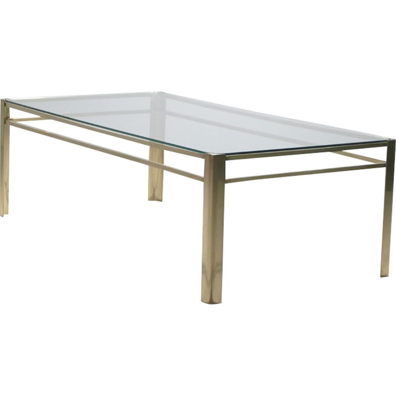 Vintage bronze coffee table by Jacques Quinet
