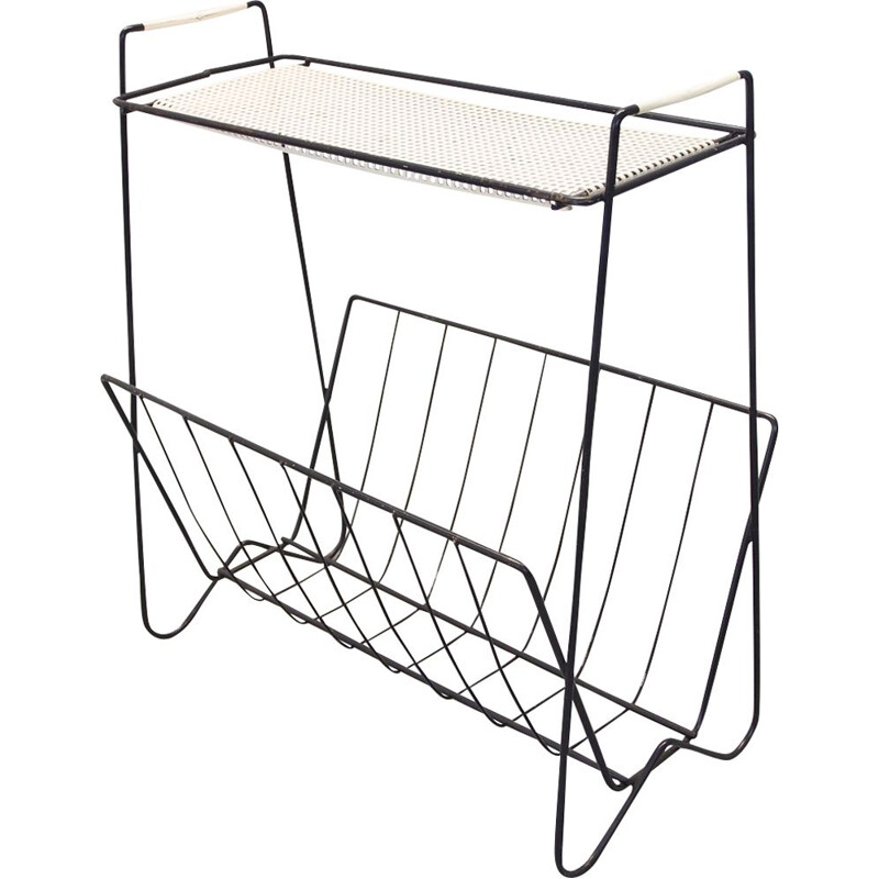 Vintage magazine rack in metal