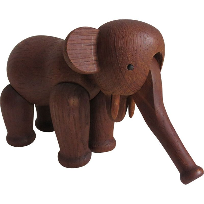 Vintage elephant in oak by Kay Bojesen