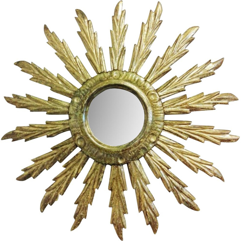 Sun Mirror wooden carved - 1950s