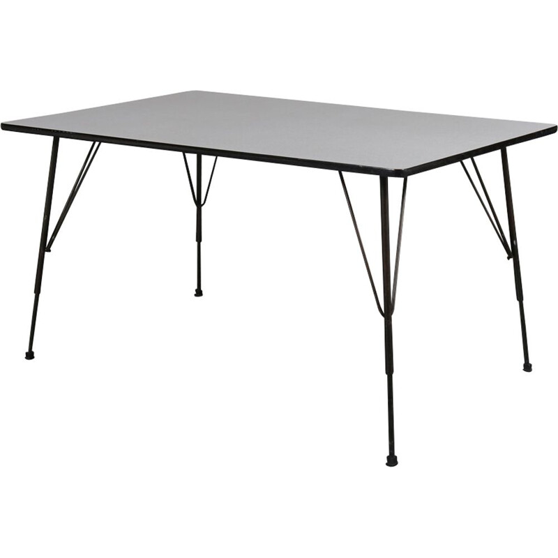 Vintage industrial dining table by Rudolf WOLF