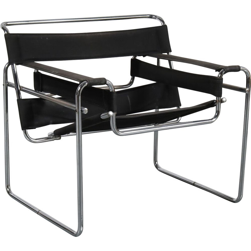 "Vintage Italian armchair ""Wassily"" by Marcel Breuer"