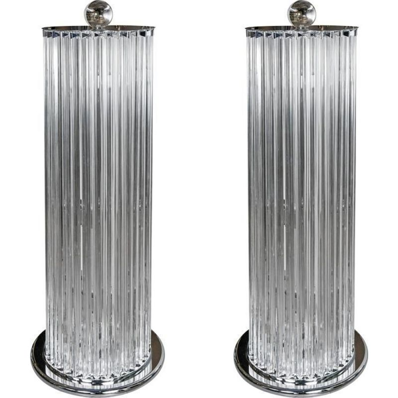 Set of 2 floor lamps in Murano glass