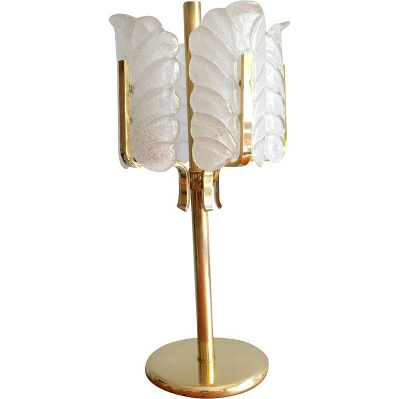 Vintage brass lamp by Carl Fagerlund for Orrefors