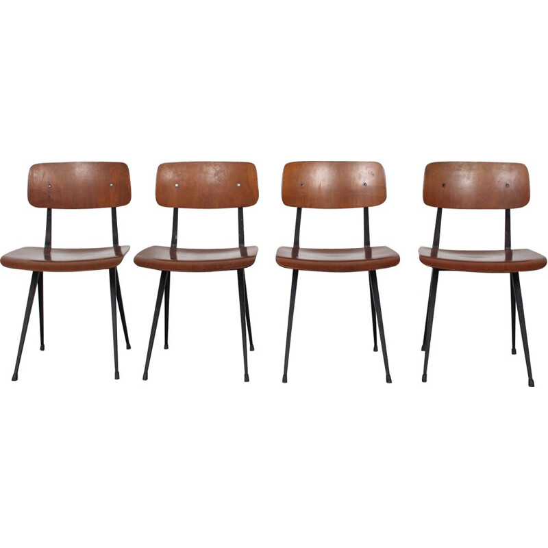 Set of 4 vintage chairs by Friso Kramer for Ahrend De Cirkel