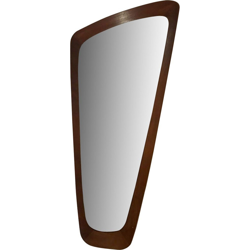 Vintage Scandinavian mirror in teak