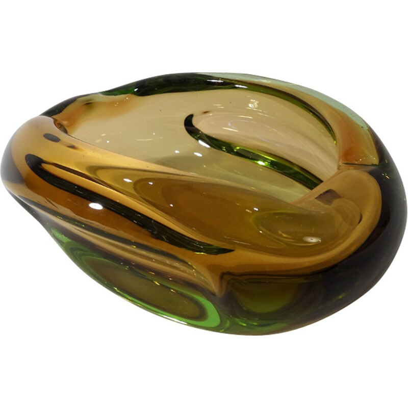 Vintage Italian ashtray in Murano glass