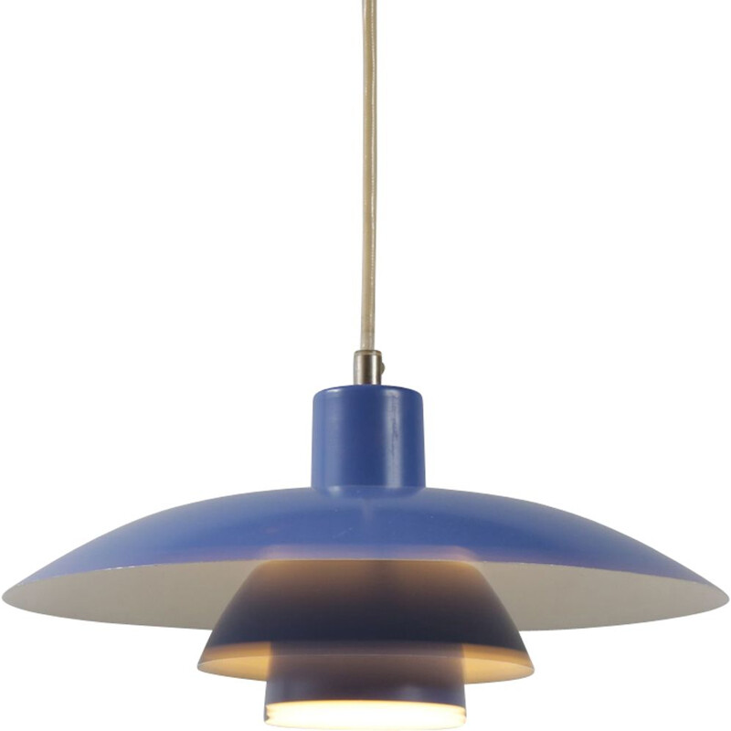 "Vintage blue pendant lamp ""PH43"" by Poul Henningsen"