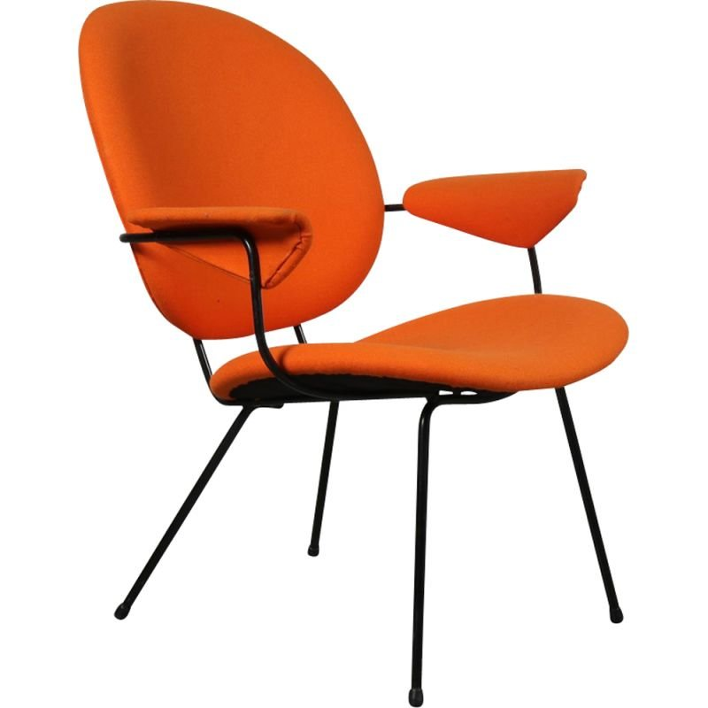 Vintage orange chair by Willem Hendrik GISPEN