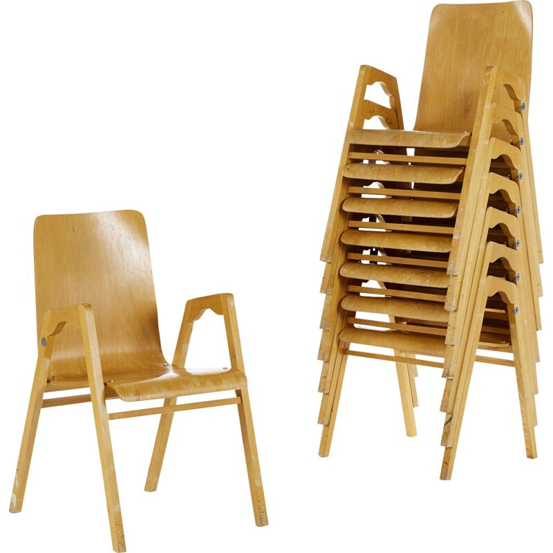 Vintage stackable chair by Axel Larsson