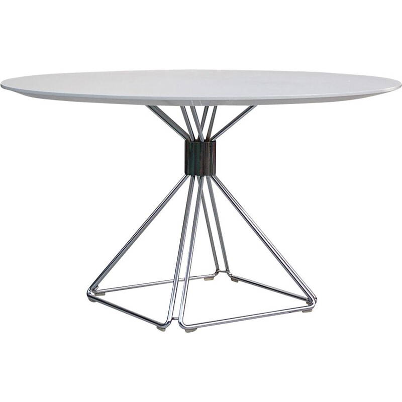 Vintage dining table on pyramid base by Rudi Verelst for Novalux