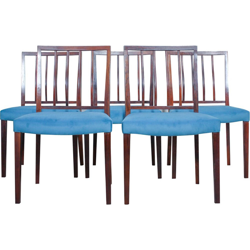 Set of 6 vintage chairs in rosewood by Robert Heritage for Archie Shine