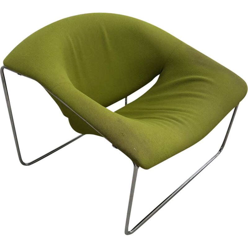 "Vintage green armchair ""Cubique"" by Olivier Mourgue"