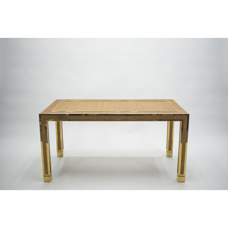 Vintage Brass And Bamboo Dining Table Design Market