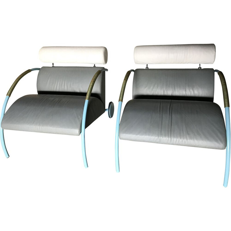 """Set of 2 vintage armchairs """"Zyklus"""" by Peter Maly for Cor"""