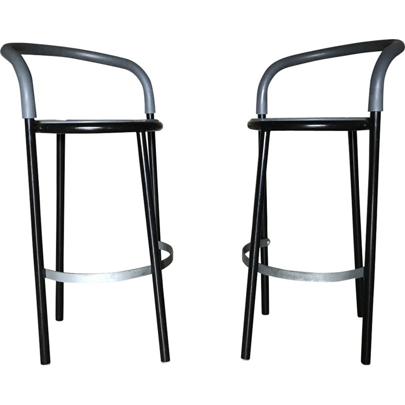 Set of 2 vintage stools by Niels Gammelgaard for Fritz Hansen