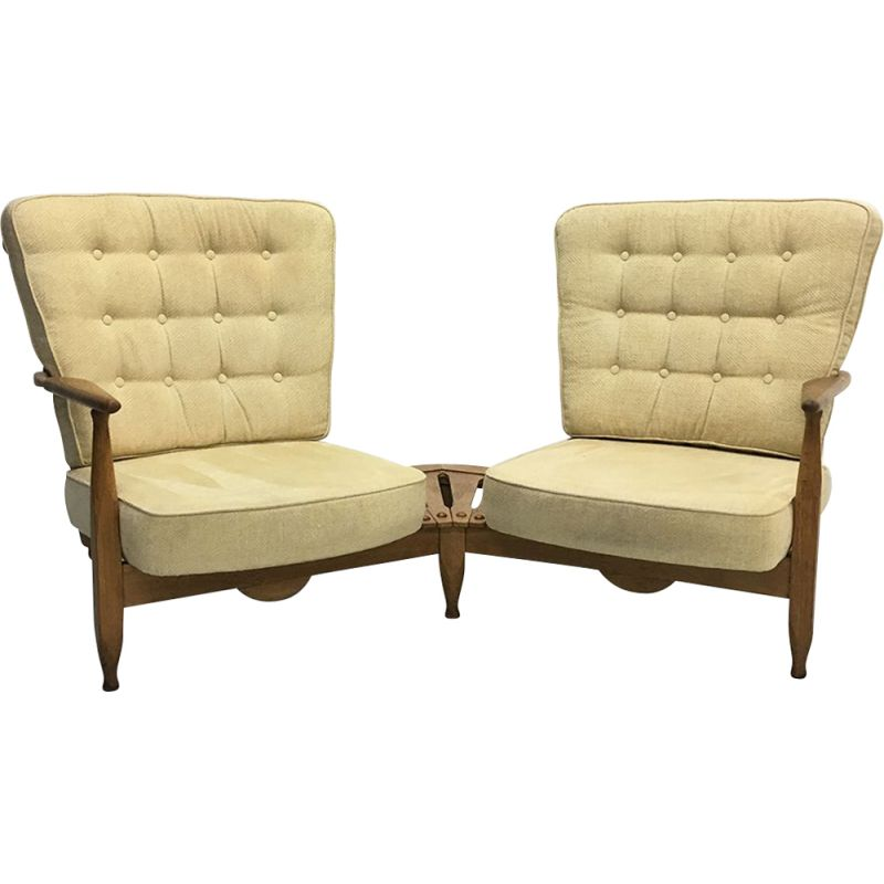 Vintage french sofa chairs by Guillerme et Chambron for Votre Maison