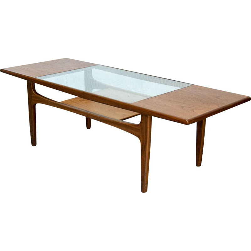 Vintage coffe table in teak and glass by Gplan