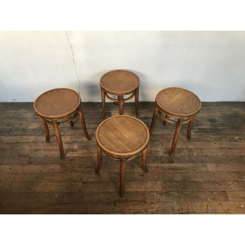 Pleasant Set Of 4 Wooden Stools By Thonet Design Market Squirreltailoven Fun Painted Chair Ideas Images Squirreltailovenorg