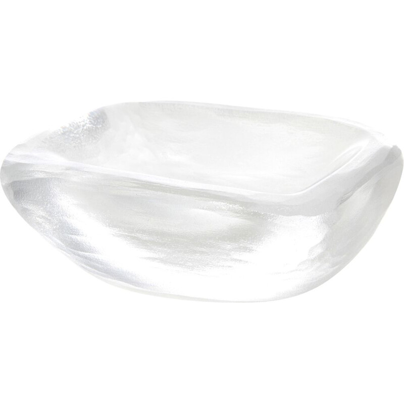 Vintage Acid Etched Crystal ashtray