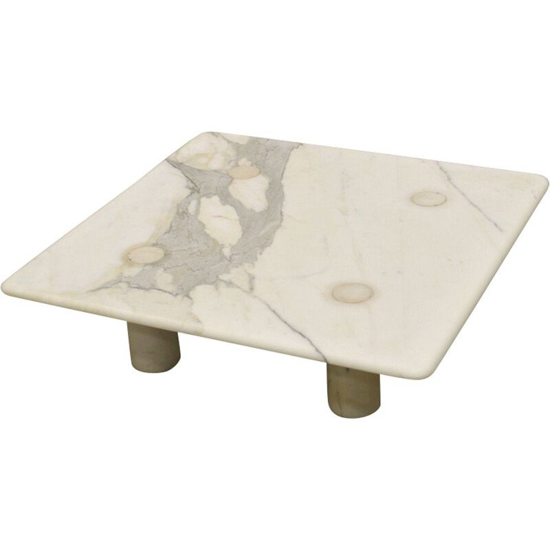 Vintage coffee table in marble by Angelo Mangiarotti