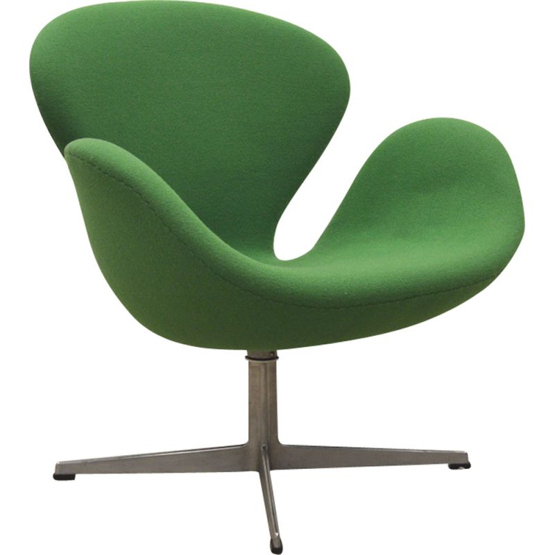 Green Swan chair by Arne Jacobsen for Fritz Hansen