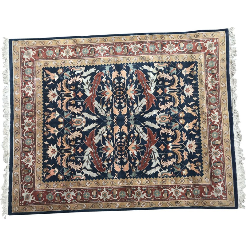 Vintage wool and cotton rug
