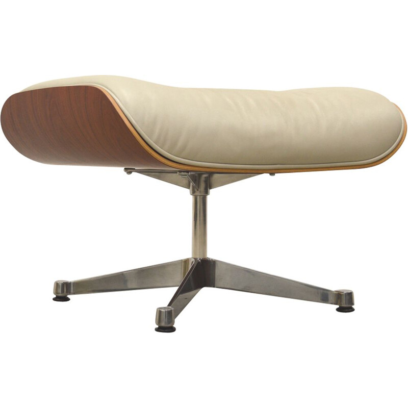 Vintage ottoman in rosewood by Charles Eames for Vitra