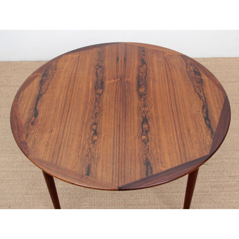 Vintage Round Table In Rosewood Design Market
