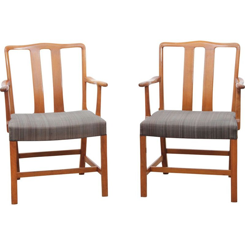 Set of 2 vintage chairs Scandinavian FH43