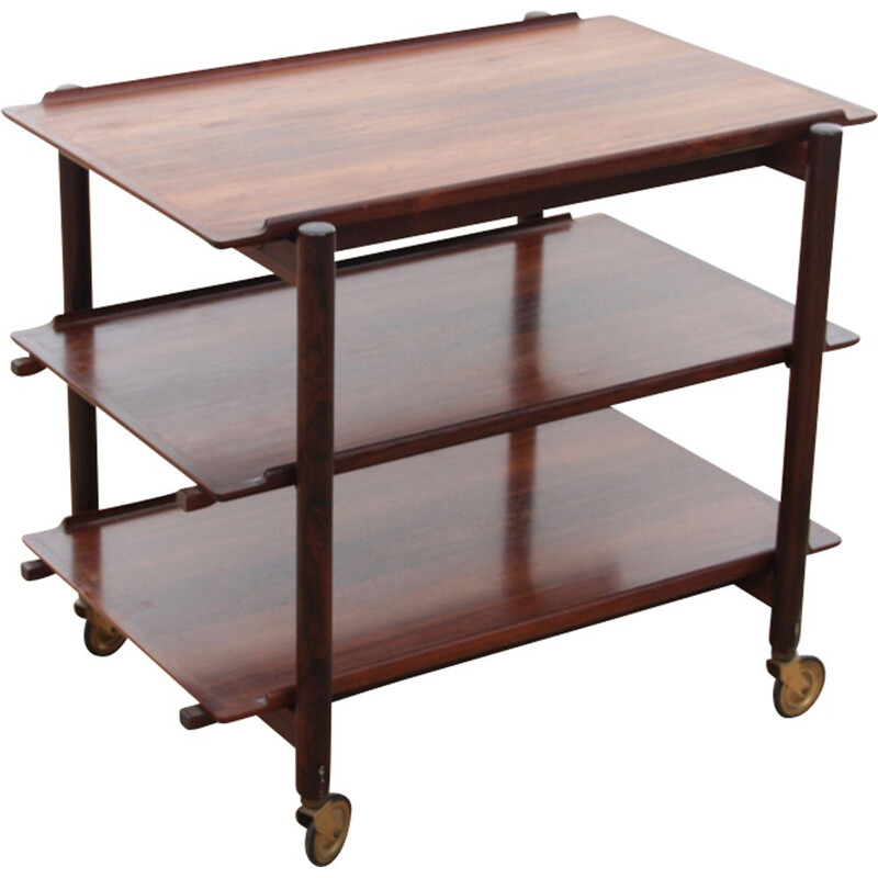Vintage serving trolley Scandinavian in Rio rosewood