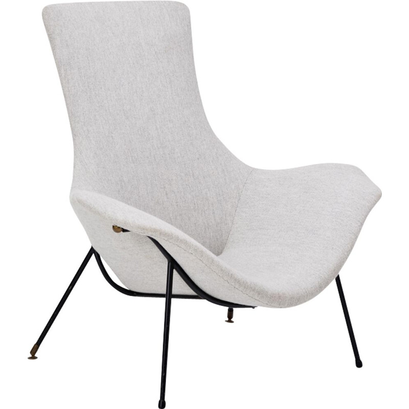 Vintage grey armchair by Augusto Bozzi for Fratelli Saporiti