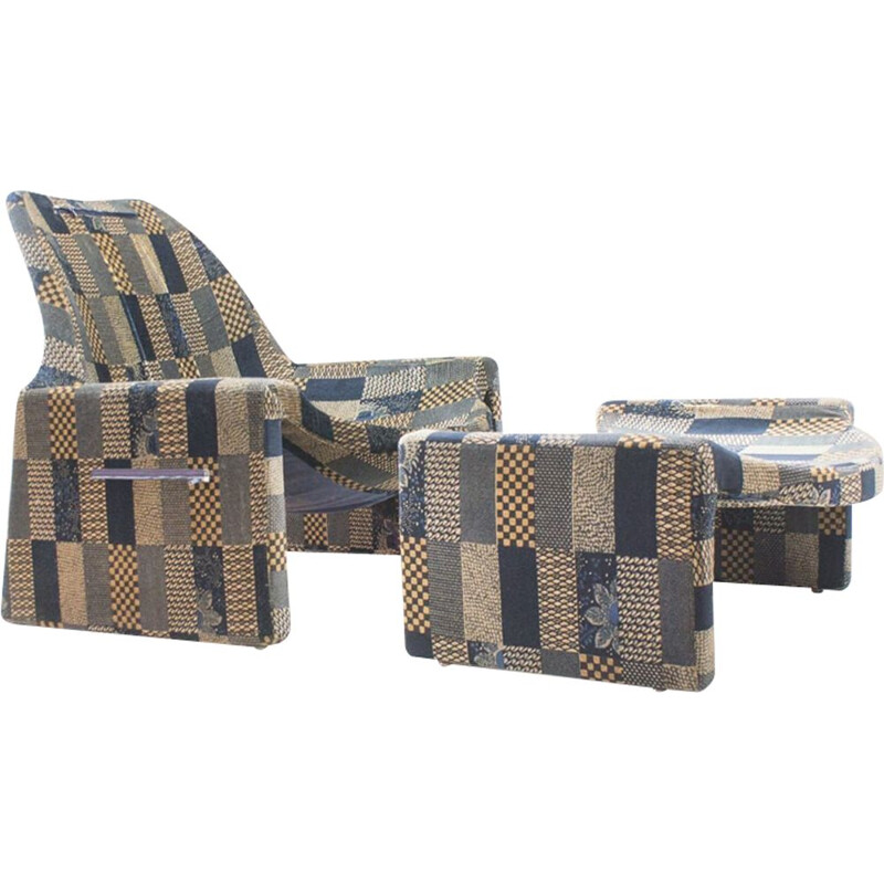 Vintage armchair and ottoman by Vittorio Introini