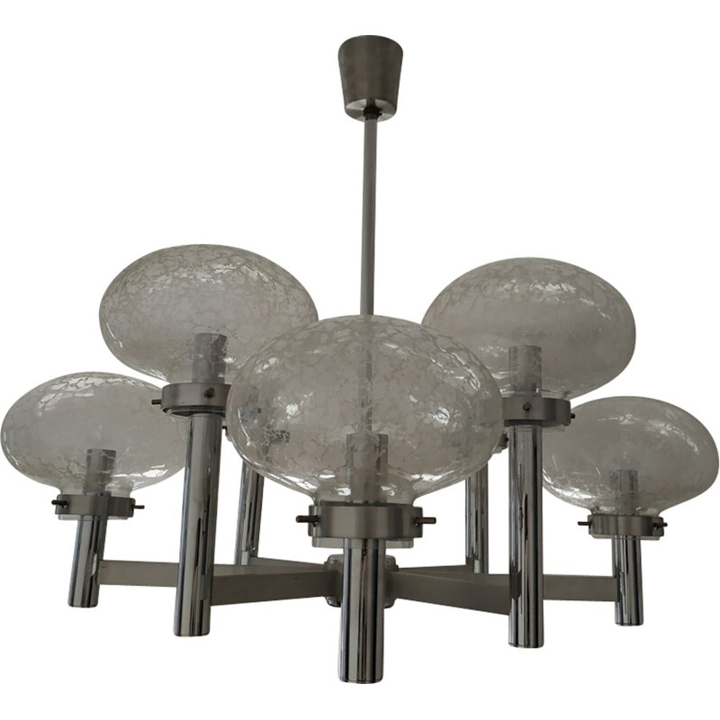 Vintage grey chandelier in metal