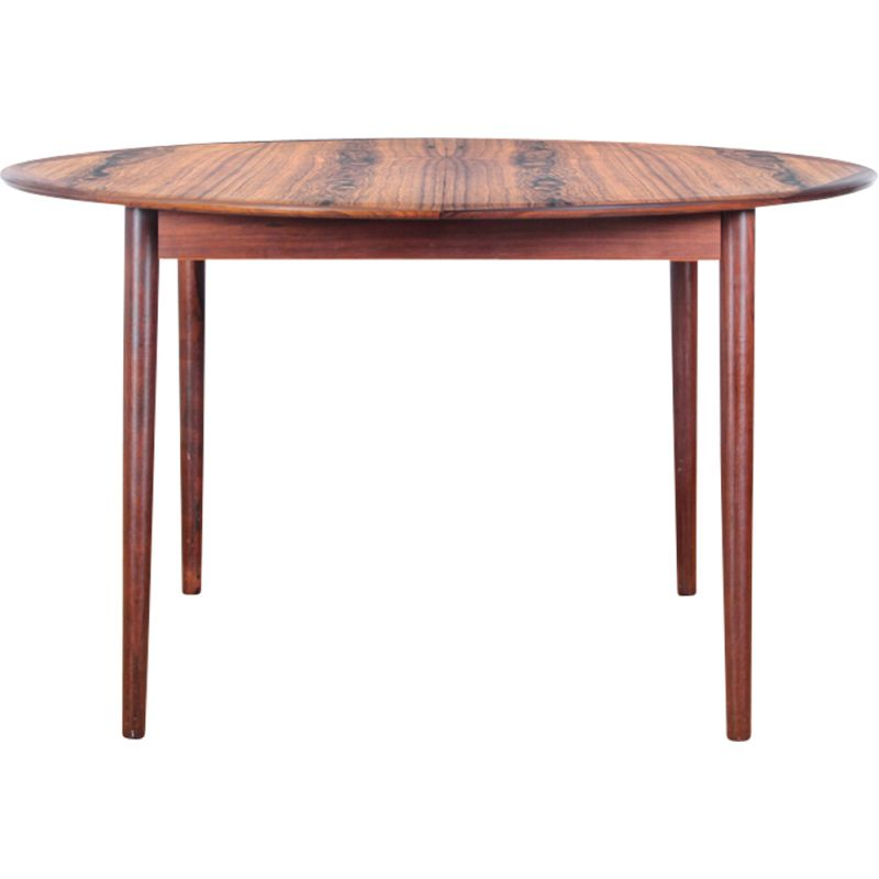 Vintage Round Table In Rosewood, Vintage Round Table
