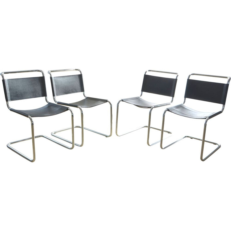 Set of 4 chairs S33 by Mart Stam