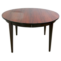 Extendable dining table in rosewood, Gunni OMANN - 1960s