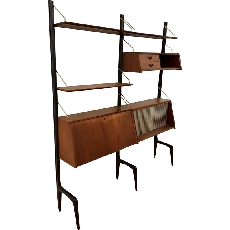 Vintage adjustable shelf system by Louis van Teeffelen for Wébé
