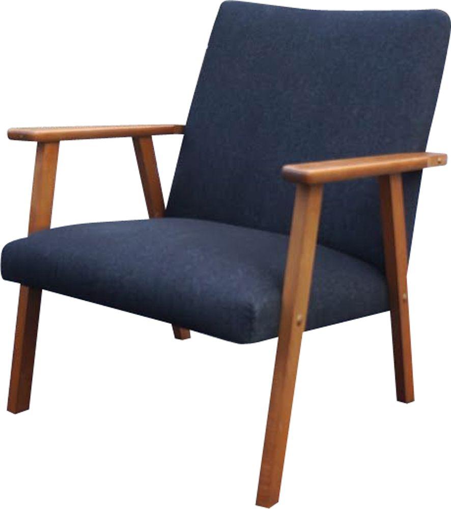 Vintage Danish armchair in teak and fabric - Design Market